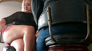 Married Blonde Fucking at the Bar
